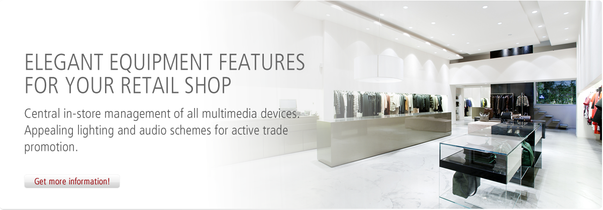 Elegant equipment features for your retail shop